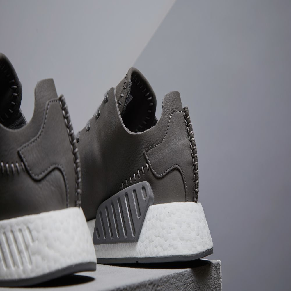 ac61fa5c5 Adidas x Wings + Horns NMD R2 Ash   Off White