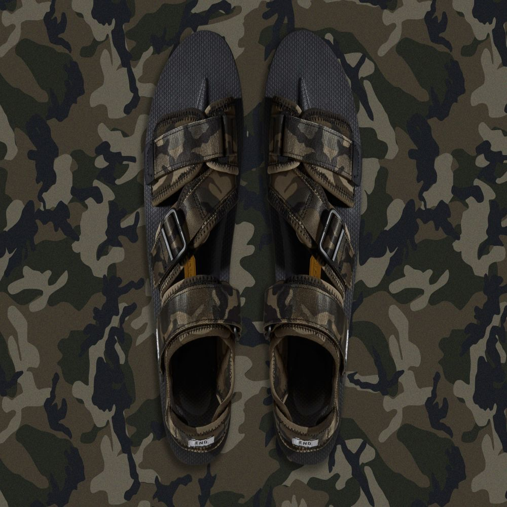 2d22f31b0c1d END. x Suicoke KISEE-V Sandal  Disruptive Pattern Material . Camouflage    Black. ¥19