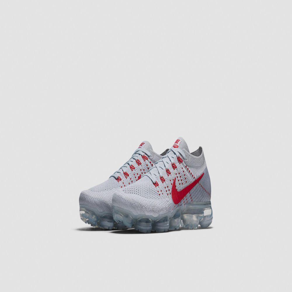 edab1095b8e Nike Air Vapormax Flyknit. Pure Platinum   University Red. CA 325. Plus  Free Shipping. image. image. image. image
