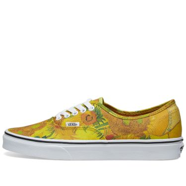 5b3a68d5f7324a Vans Vault Women s UA Authentic  Vincent Van Gogh . Sunflowers   True White