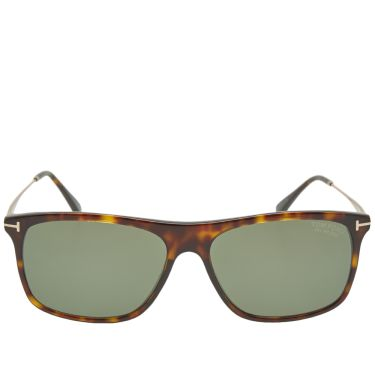 c677378d98f Tom Ford FT0588 Max-02 Sunglasses Dark Havana   Green Polarized