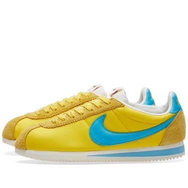 Nike x Kenny Moore Classic Cortez Nylon QS Tour Yellow   Chlorine ... 412f67eabd75