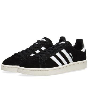 c46007b33cf Adidas Campus Core Black   Chalk White