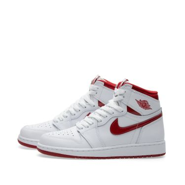 Nike Air Jordan 1 Retro High OG BG White   Varsity Red  b5cf36df3