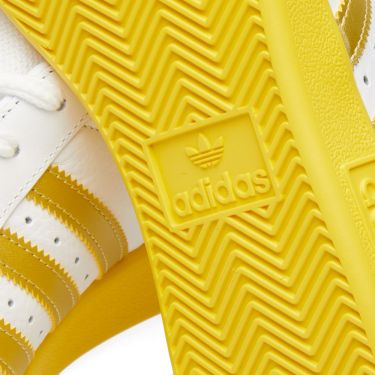 hot sale online 79e3e 293fb Adidas Forest Hills White, Gold  Yellow  END.