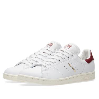Adidas Stan Smith White   Collegiate Burgundy  ce020800e