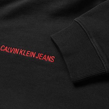 Calvin Klein Long Sleeve Relaxed Mock Neck Sweat CK Black  cc0241344192