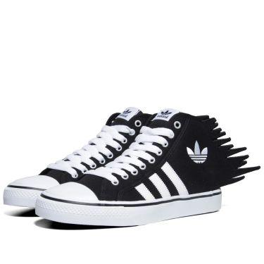 b5859783e3b Adidas ObyO x Jeremy Scott Nizza Jagged Black   Running White
