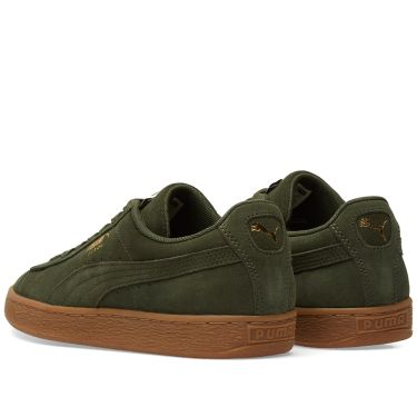 b75c1a8c7c23 Puma Suede Classic Gum Sole Forest Night   Team Gold