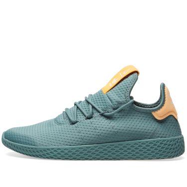 09518fbc37d Adidas x Pharrell Williams Tennis HU Raw Green   Off White