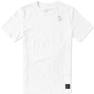 Nike Air Jordan x OVO Tee White   Metallic Gold  a43013eeb36f