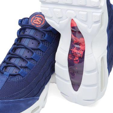 291f4b8eb4 Nike x Stussy Air Max 95 Loyal Blue   White