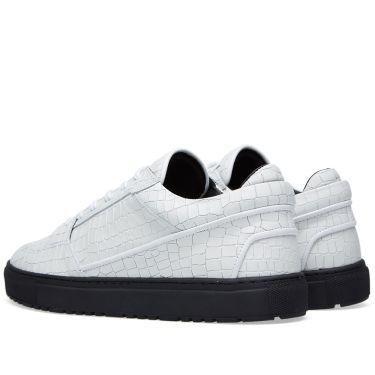 ETQ. Low Top 3 Sneaker White Croc Embossed  89f543782e17