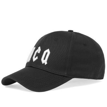 McQ by Alexander McQueen Baseball Cap Black   White  5e1b0df90b88