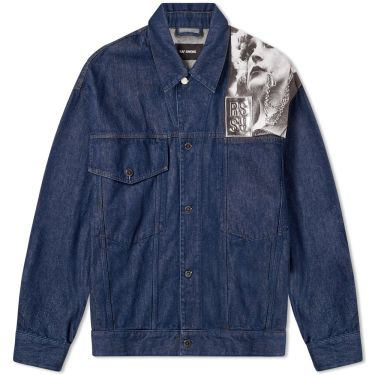 84c330ab166 Raf Simons Punkette Denim Jacket Dark Navy