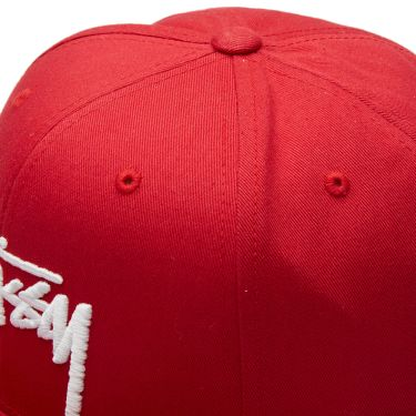 40f7ac018df Stussy Stock Snapback Cap Red