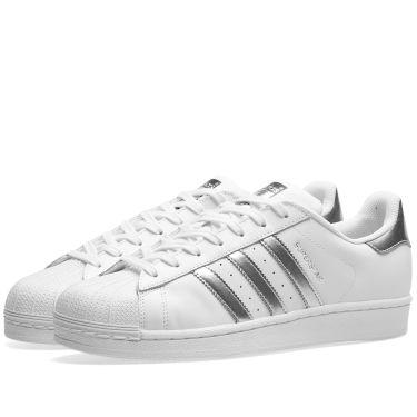 1ea15b1cf649 Adidas Superstar W White   Metallic Silver