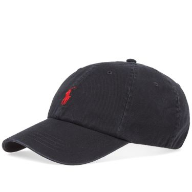 Polo Ralph Lauren Classic Baseball Cap Black   Red  f4991e8edd49