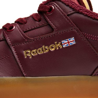 Reebok x Palace Workout Low Clean FVS Burgundy   White  ccad767c8