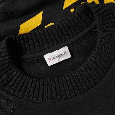 2cffc7381c1a Moncler x Off-White Chevron Crew Sweat Black