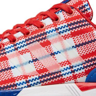 the latest 82994 556b7 Adidas Consortium x CLOT ZX Flux RWB Collegiate Red, White