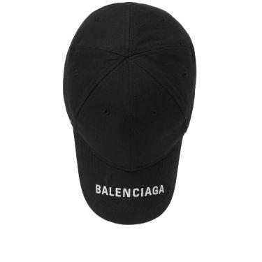 Balenciaga Visor Logo Cap Black  3d4d6a3b1601