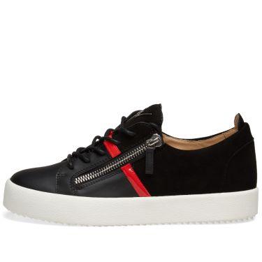 89b11c4fb594 homeGiuseppe Zanotti Double Zip Leather Band Sneaker. image. image