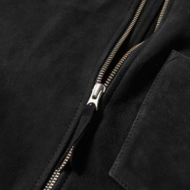 ee62741bd7e9 Our Legacy Suede Zip Shirt Black Suede