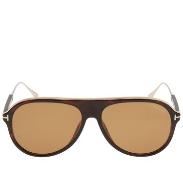 3eb57a510eb Tom Ford FT0624 Nicholai-02 Sunglasses Dark Havanna   Brown