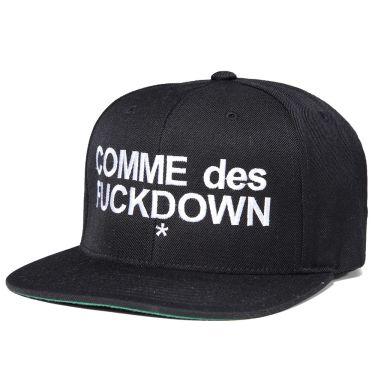 SSUR Comme des Fuckdown Snapback Cap Black  02e77e9bd07