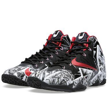 6c001f18baec Nike LeBron XI  Graffiti  White   University Red