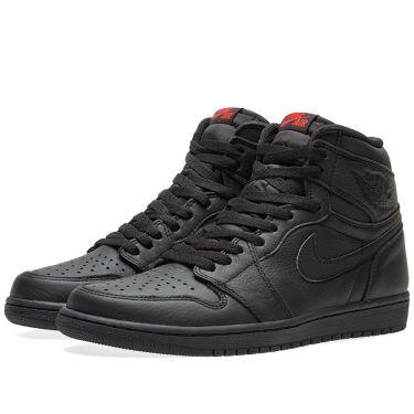 Nike Air Jordan 1 Retro High OG Black   University Red  0edd8b2eb