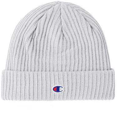 Champion Reverse Weave Logo Beanie Grey Melange  e984df2f18a