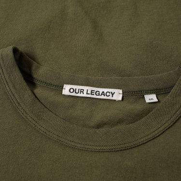 dca26972d Our Legacy Perfect Tee Olive Army Jersey