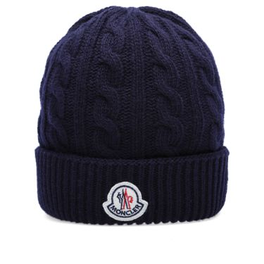 Moncler Cable Knit Beanie Navy  484a96cb317