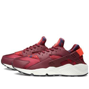 0047a1b223ee Nike W Air Huarache Run Print Deep Garnet   Bright Crimson
