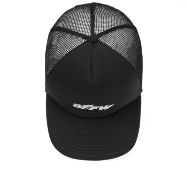 b3432473ada Off-White Wing Off Trucker Hat Black   White