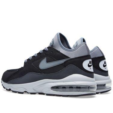 sale nike air max 93 black grey 44c90 dec26