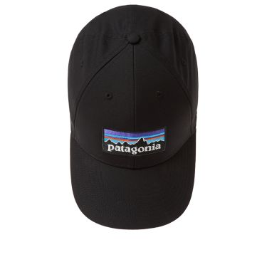 Patagonia P-6 Logo Stretch Fit Cap Black  35def30edb1c