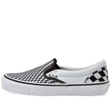 END. x Vans OG Classic Slip On LX  Vertigo  Black   True White  f20dc47e6c