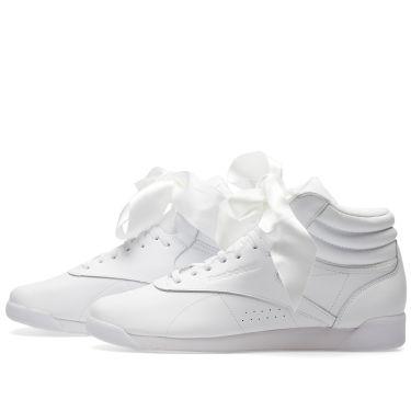 6e4559ba260 Reebok Freestyle Hi Satin Bow W White   Skull Grey