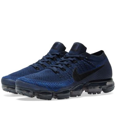 Nike Air Vapormax Flyknit Colligate Navy   Black  5d9f58828