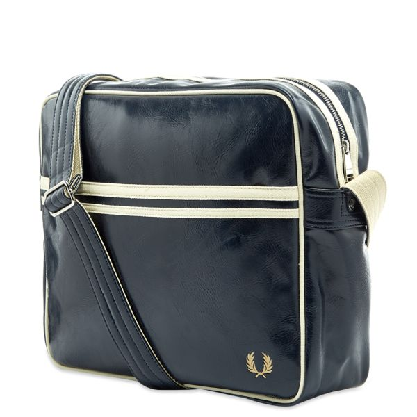 Fred Perry Classic Shoulder Bag Navy 100/% Genuine Brand New