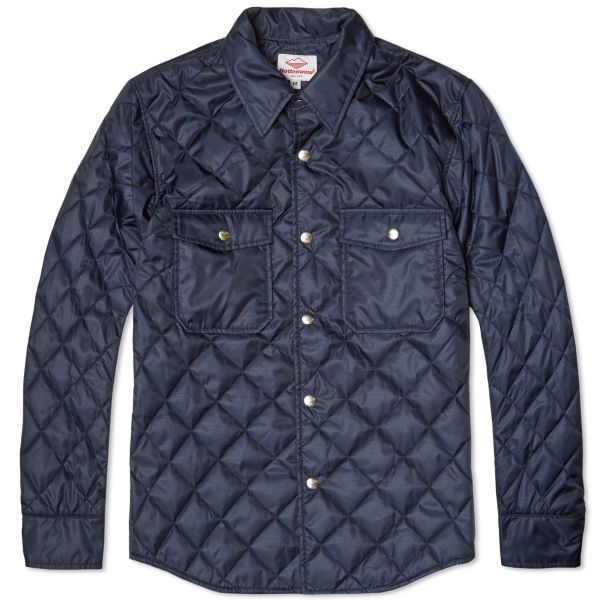 Battenwear quilted guide shirt navy | end.
