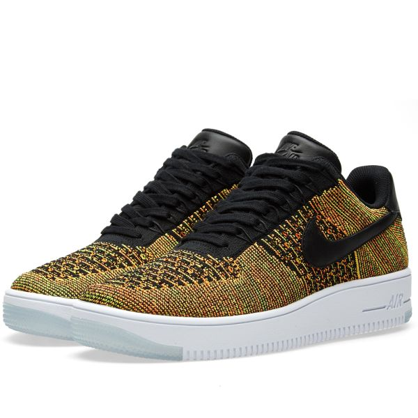 nike air force 1 flyknit low yellow