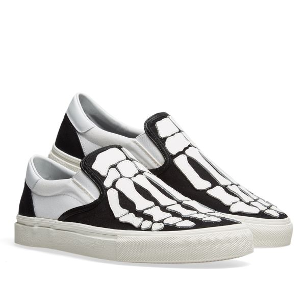 AMIRI Slip On Bones Sneaker Black