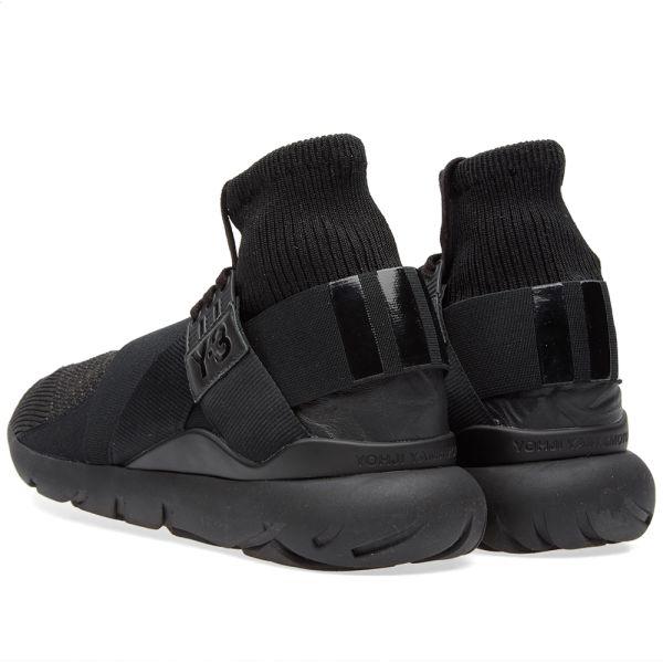 ADIDAS Y 3 Adidas Y 3 Black Leather Mix Jacket