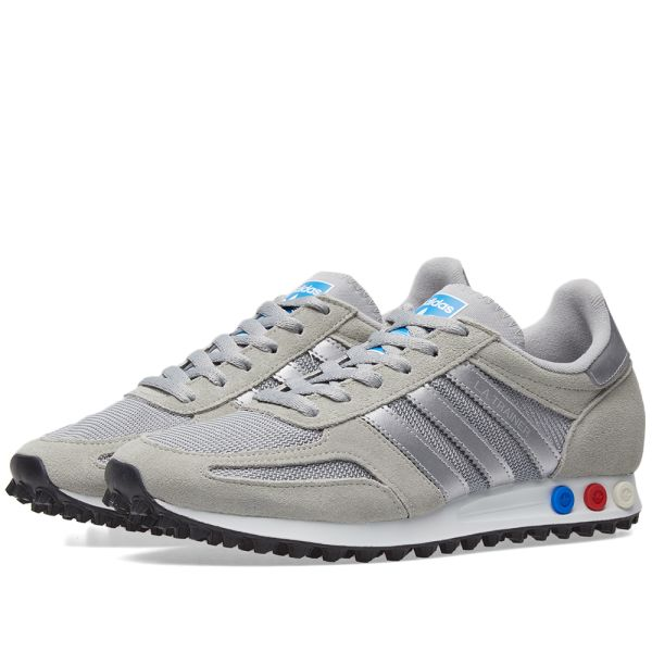 Gran Barrera de Coral Salida doce  Adidas LA Trainer Grey, Metallic Silver & White | END.