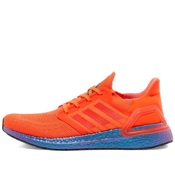 Adidas UltraBoost 20 Solar Red Boost Blue Violet