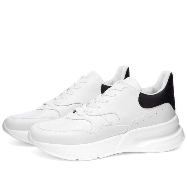 white and black runners